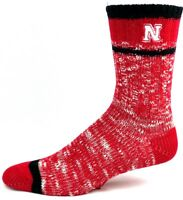Nebraska Cornhuskers NCAA Red and Black Alpine Knit Crew Socks