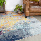 Modern Multi Abstract Rug Small Large Living Room Rugs Eye Catching Area Carpets