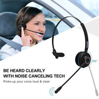Headset Over Head Handsfree Noise Cancelling Wireless Blue-tooth Trucker Driver