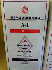 "HWB(A-1) brand)  #30x3"" (0.30mmx75mm)  needle 200pcs/box single tube"