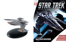 #13 Star Trek JEM HADDAR Die-Cast Metal Ship-UK/Eaglemoss w Mag-FREE S&H