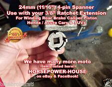 24mm Special Socket Tool to Rewind Rear Brake Caliper Piston @ Honda Acura Car