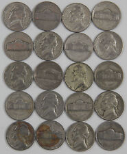 Lot of 20 - 1942-1945 35% Silver Jefferson War Nickels of random dates