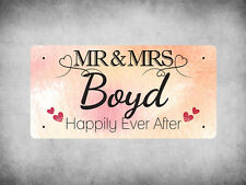 WP_VAL_144 MR & MRS Boyd - Happily Ever After - Metal Wall Plate