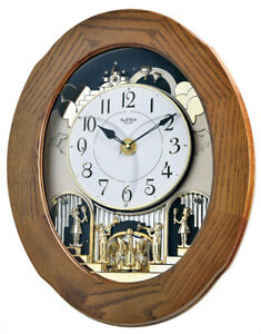 Rhythm Clocks Joyful Essence Musical Wall Clock (4MH417WU06)