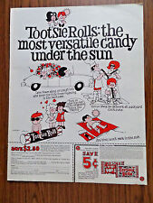 1969 Tootsie Rolls Candy Ad Most Versatile Candy