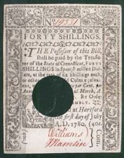 United States Colonies 40 Shillings 1780 AU Rare
