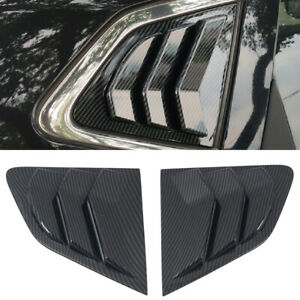 Rear Window Louvers Shutter Cover 2pcs For Nissan Qashqai Rogue Sport 2015-2020