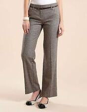 Wool Blend Straight Leg Regular Tailored Trousers for Women