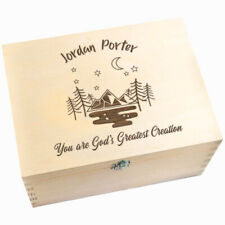 """You Are God's Greatest Creation"" Personalised Keepsake Box - Christening Gift"
