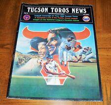 VINTAGE 1986 TUCSON TOROS PROGRAM - TUCSON TOROS NEWS - HOUSTON ASTROS AFFILIATE