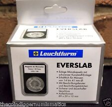 5 Lighthouse EVERSLAB Coin Holder 38mm Silver Dollar Morgan Case SLAB Capsule