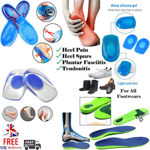 Orthotic Insoles for Arch Support Plantar Fasciitis Flat Feet Back & Heels Pain