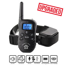 Dog Training Bark Collar Remote Waterproof Shock Rechargeable Small Medium Large