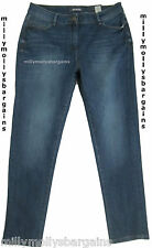New Womens Marks & Spencer Blue Boyfriend Jeans Size 16 DEFECTS