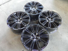 20 AUDI A8 S8  RS A6 S6 2015-2018 WHEELS RIMS NEW OEM GLOSSY BLACK NEW SET OF 4
