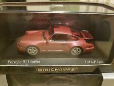 Minichamps 1990 Porsche 911 Turbo  in Red metallic 1/43 Scale