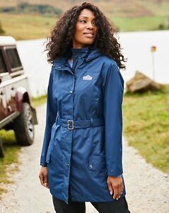 BNWT JD Williams Snowdonia Tie Belt Mac Jacket Coat Navy RRP £85 UK 26