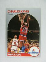Charles Jones Washington Bullets 1990 NBA Hoops Basketball Card Number 299