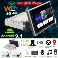 "10.1"" 1Din Android 9.1 Head Unit Bluetooth GPS Nav Car Radio Stereo MP5 Player"