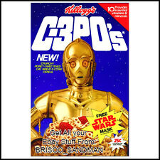 Fridge Fun Refrigerator Magnet STAR WARS: C-3PO'S BREAKFAST CEREAL 80s Retro