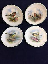 "Royal Albert Woodland Birds 4 8""Collectable Plates By Reg Johnson 1982 Vintage"