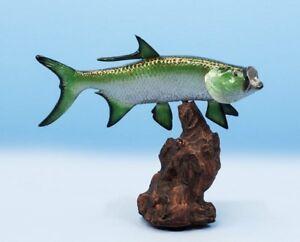 """Taxidermy Tarpon 12"""" Fiberglass Fish  Mount"""