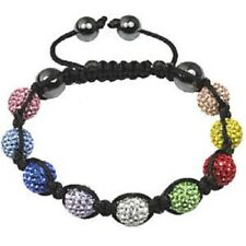 Czech Crystal Multi Coloured Shamballa Bracelet RRP £59 Adjustable MOTHERS DAY
