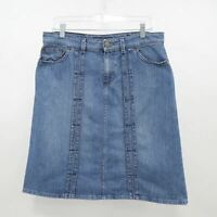 Marc Jacobs Denim Jeans Skirt A-Line Womens 10 Blue Stretch Knee Length