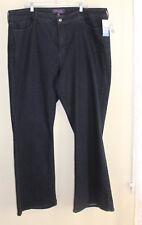NWT NYDJ -Sz 24W Dark Denim Phoebe Flare Jeans $129