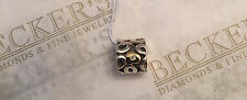 Pandora 14k & sterling silver Clear CZ Oh My Oval Design Charm Bead