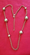 . . . 28 to 42 Inch Necklace Chico'S Golden Balls , Balls , Hammered Balls !