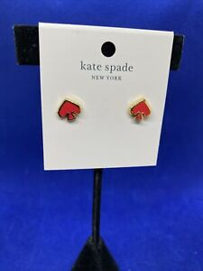 Kate Spade Everyday Spade earrings  coral  NWT