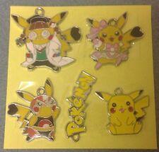 """"""" """"Lot de 5 X Pokemon Pikachu ton argent métal émail CHARMS pendentifs (N3)"""""""""""