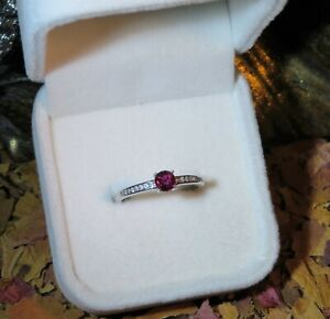 CERTIFIED! Exotic natural Untreated Purple Red Ruby silver adjustable ring 🍒