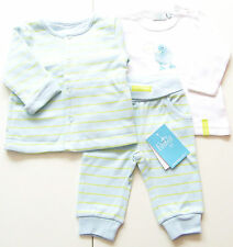 Wende Jacke Hose Shirt Gr.56 Feetje NEU m.E Entchen 100% Baumwolle blau Set baby