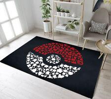 Fashion Custom Home Decor Pokemon Kid Play Floor Mat Living Room Carpet Area Rug