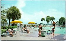 Sea Island, Georgia Postcard THE BEACH CLUB Swimming Pool Scene c1960s Unused