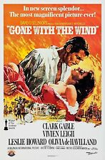 GONE WITH THE WIND (1939) ORIGINAL MOVIE POSTER R-1989 50TH ANNIV. ROLLED - RARE