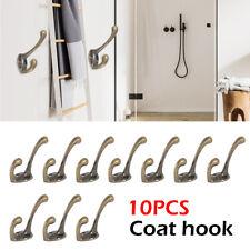 10 PCS Cast Iron Vintage Style Coat Hooks Hat Hook Rack Hall Tree Restoration
