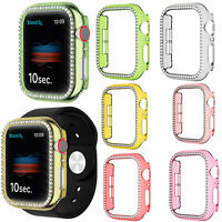 Case Cover For iWatch Series 6 5 4 3 2 SE Diamond Hard PC Bumper Protector Shell