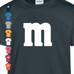 M&m Funny Cool Kids T shirt Halloween Costume Childern Fancy Birthday Gift