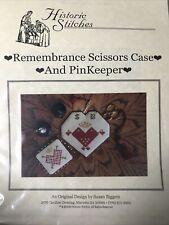Historic Stitches Remembrance Scissors Case And PinKeeper Cross Stitch Pattern