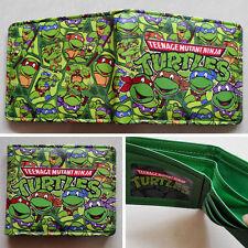 Teenage Mutant Ninja Turtles TMNT Logo 12cm Leather Wallets Purse #New32