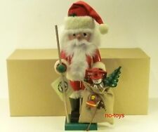 "Ulbricht German Wooden Nutcracker ""Santa With Toy Bag� 0/259 New"