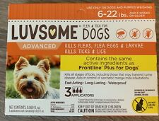 New listing New Luvsome Flea, Tick & Lice (6-22 lbs) 3 Applications *Compare To Frontline *