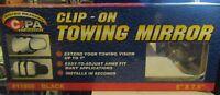 "CIPA Mirrors Clip-On Towing Mirror 11950 Black 5"" X 7.5"" 20/20 CIPA MIRRORS NEW"