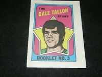1970-71 TOPPS HOCKEY BOOKLET No. 3 THE DALE TALLON STORY