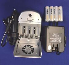 Aa/Aaa 30 Minuts Ac/Dc Fast Charger+Free 4 of Hitech Rechargeable Aa 2.5Ah Top