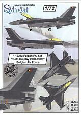Syhart Decals 1/72 F-16AM FALCON SOLO DISPLAY 2007-2008 Belgian Air Force